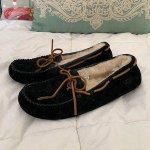 UGG Size 8 Black Moccasins